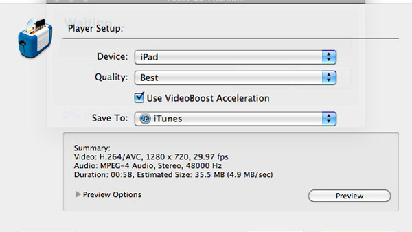 Convert video for iPad or iPhone